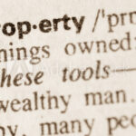 Dictionary definition of word property